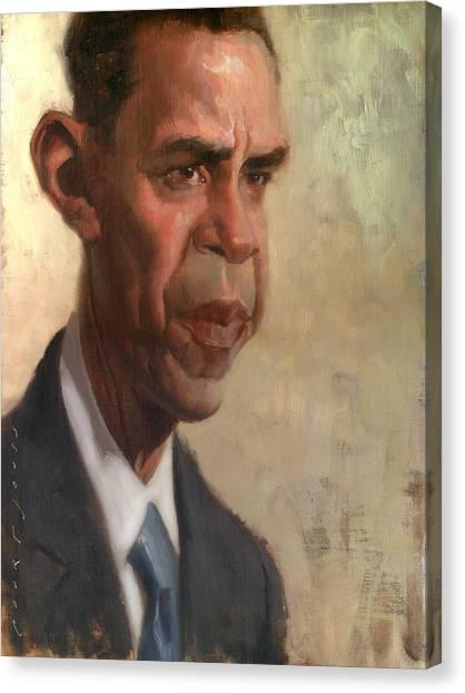 President Obama Canvas Print - Obama by Court Jones