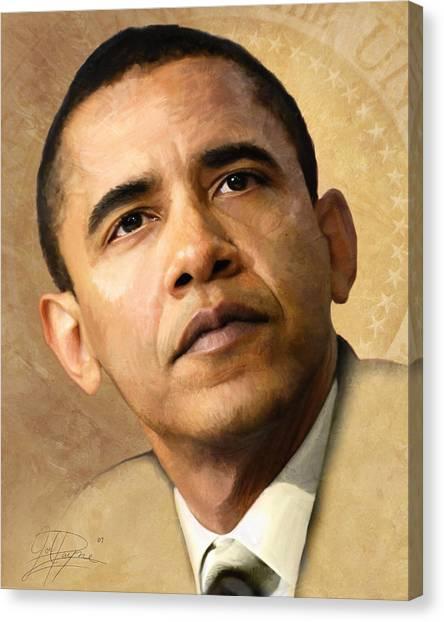 First Ladies Canvas Print - Obama by Joel Payne