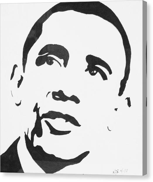 Obama Canvas Print by Kenneth Regan