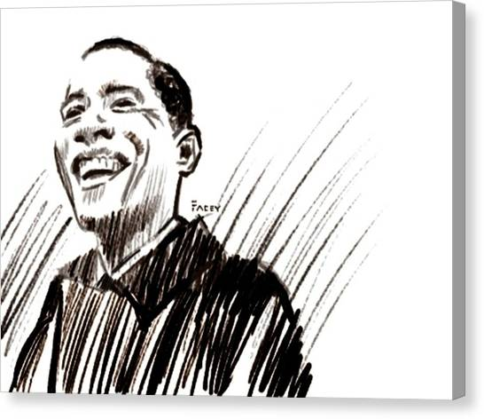 Barack Obama Canvas Print - Obama by Michael Facey