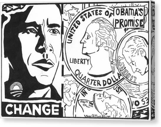 Obama's Promise Canvas Print by Yonatan Frimer Maze Artist