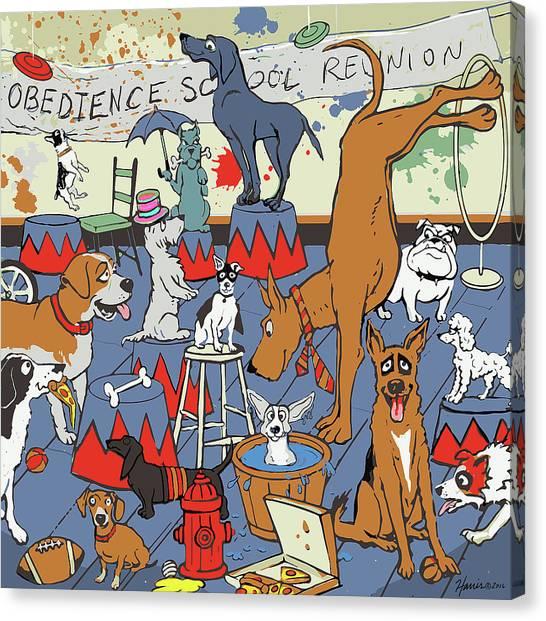 Obedience School Reunion Canvas Print