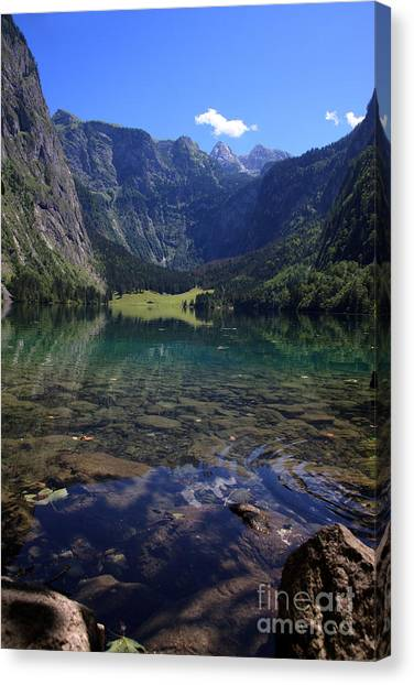 Alps Canvas Print - Obersee by Nailia Schwarz