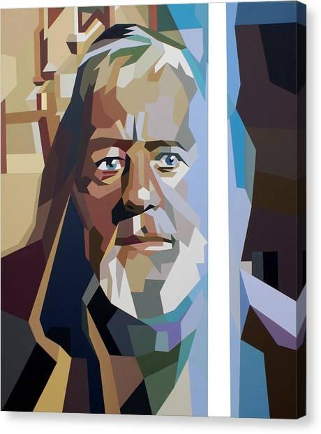 Obi-wan Kenobi Canvas Print - Obi Wan by Ian  King