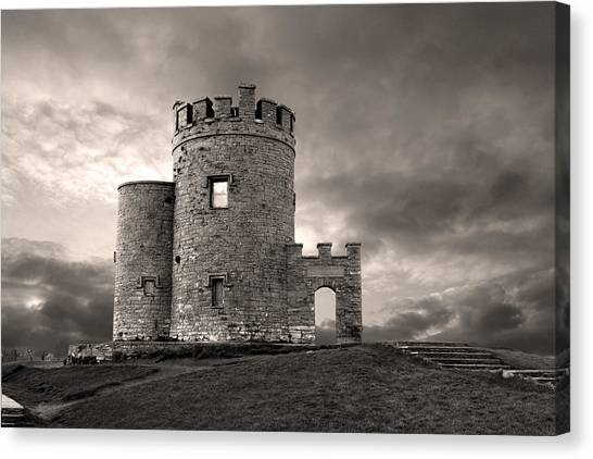 O'brien's Tower At The Cliffs Of Moher Ireland Canvas Print