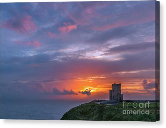 The Cliffs Of Moher Canvas Print - O'brien's Tower by Henk Meijer Photography