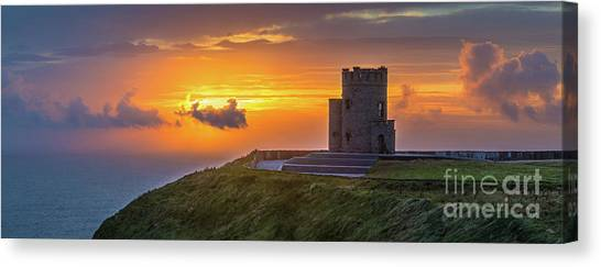 The Cliffs Of Moher Canvas Print - O'brien's Tower - Ireland by Henk Meijer Photography
