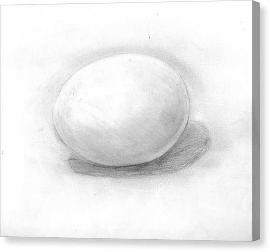 observation EGG ON WHITE Canvas Print by Katie Alfonsi