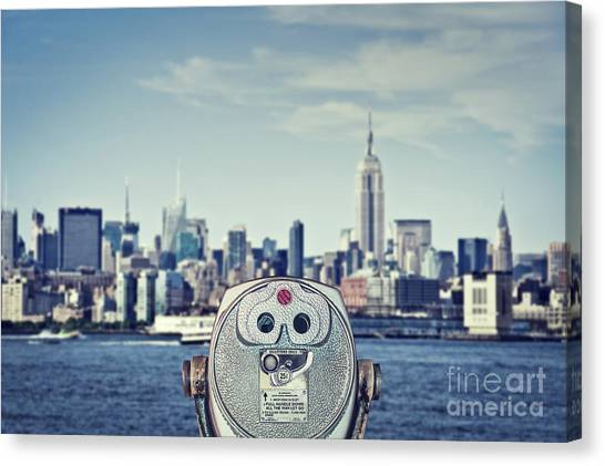 American Steel Canvas Print - Observation Point by Delphimages Photo Creations