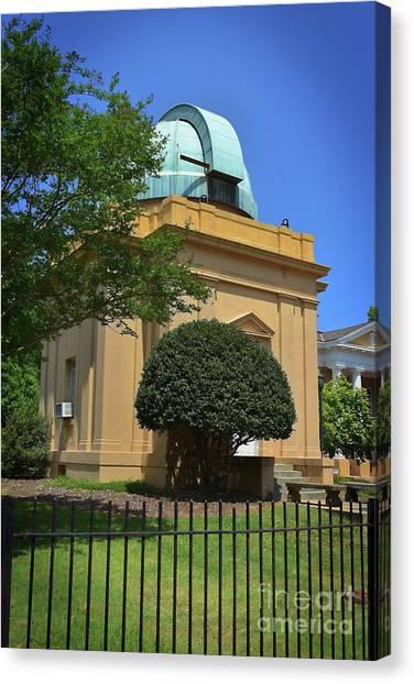 University Of South Carolina Canvas Print - Observatory At The Univeristy Of Sc by Skip Willits
