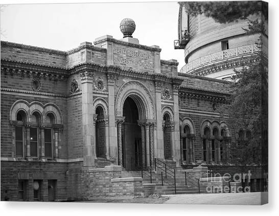 University Of Wisconsin - Madison Canvas Print - Observatory In Williams Bay by David Bearden