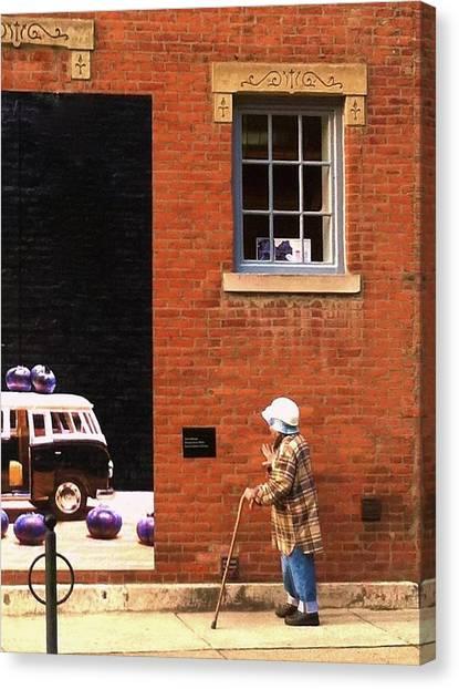 Observing Building Art Canvas Print