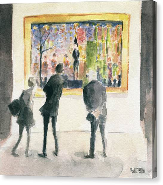 Museums Canvas Print - Observing Seurat by Beverly Brown