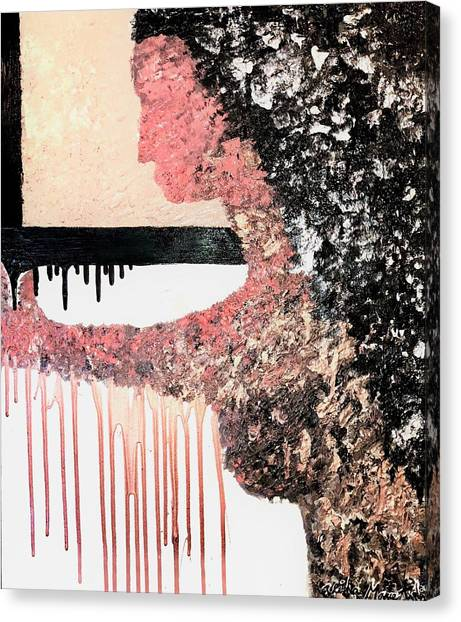 Obsidian Blush Canvas Print