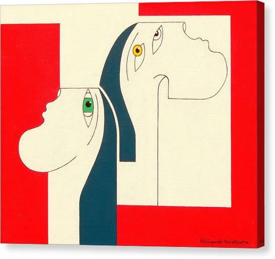 Obstinate Canvas Print by Hildegarde Handsaeme