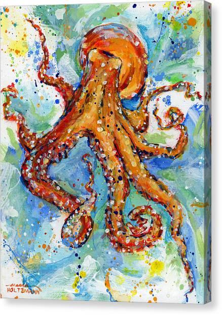 Squids Canvas Print - Occy by Arleana Holtzmann