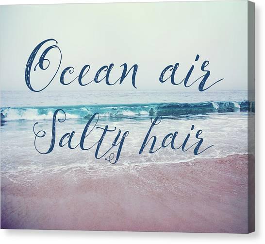 Ocean Air Salty Hair Canvas Print