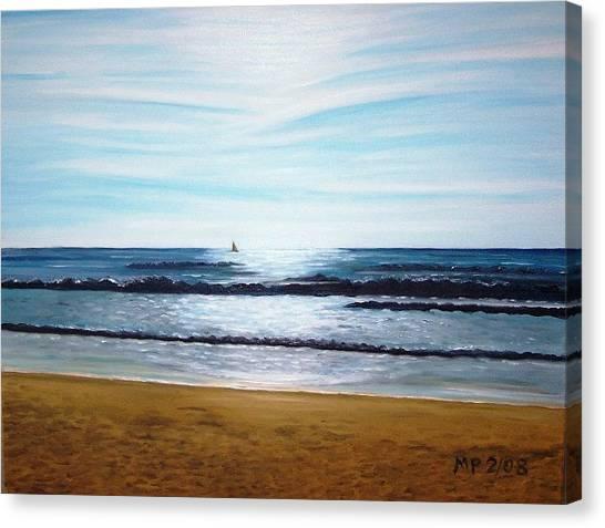 Ocean And Light Canvas Print by Madeleine Prochazka