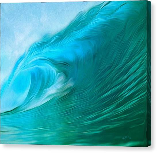 Ocean At Play Larger Version Canvas Print