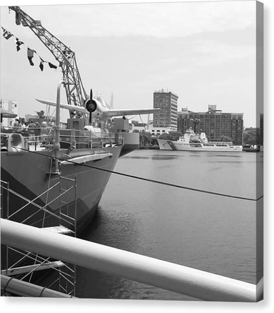 Battleship Canvas Print - #ocean #battleship #photo by Luis Angel