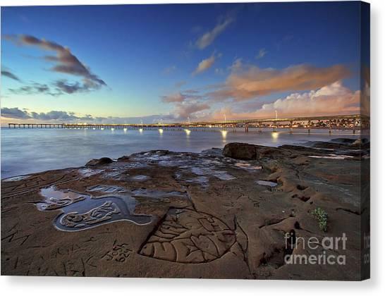 Ocean Beach Pier At Sunset, San Diego, California Canvas Print