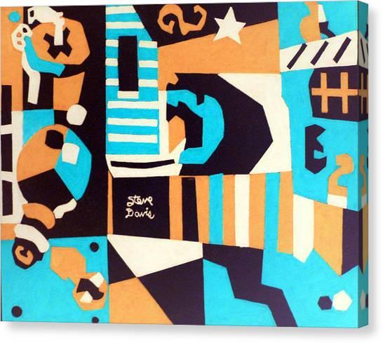 Ocean Blue Canvas Print by Stephen Davis