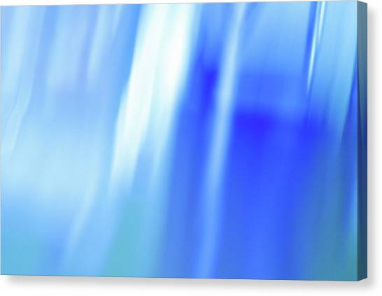 Planet Canvas Print - Ocean Blues Abstract by Laura Fasulo
