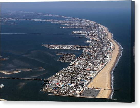 Jet Skis Canvas Print - Ocean City Maryland by Steve Monell