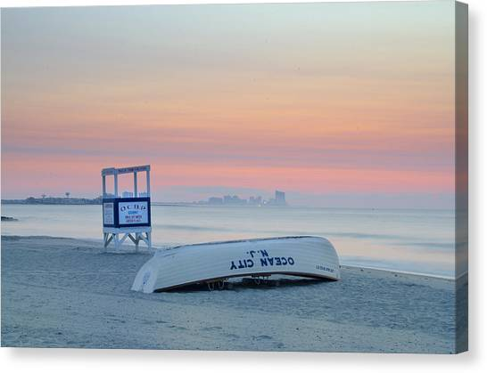 Canvas Print - Ocean City New Jersey Before Sunrise by Bill Cannon