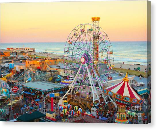 Ocean City New Jersey Boardwalk And Music Pier Canvas Print