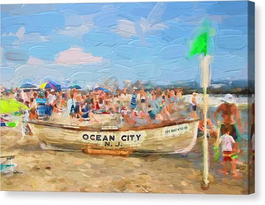 Ocean City Rescue Boat 2 Canvas Print