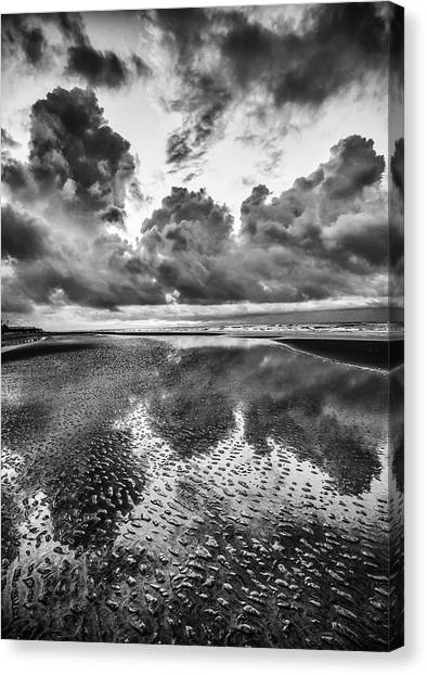 Ocean Clouds Reflection Canvas Print