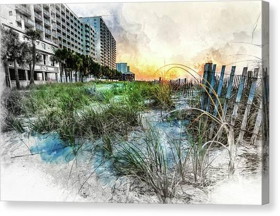 Ocean Drive Easter Sunrise Canvas Print