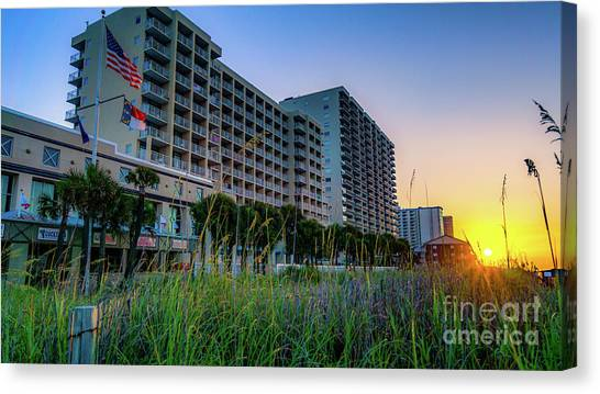 Ocean Drive Sunrise North Myrtle Beach Canvas Print