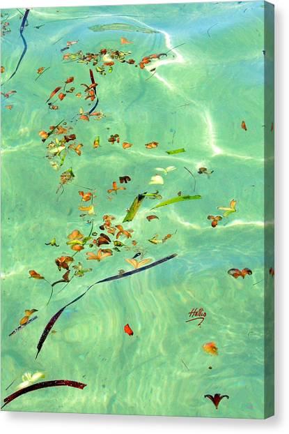 Ocean Flowers Canvas Print