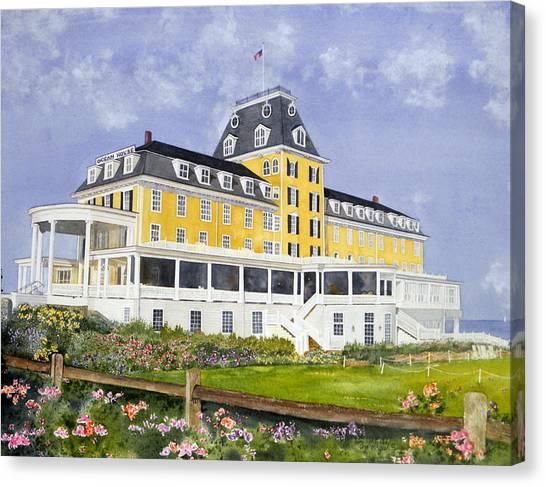 Ocean House Canvas Print by Lizbeth McGee