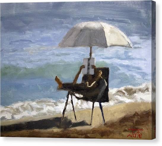 Ocean Reader Canvas Print