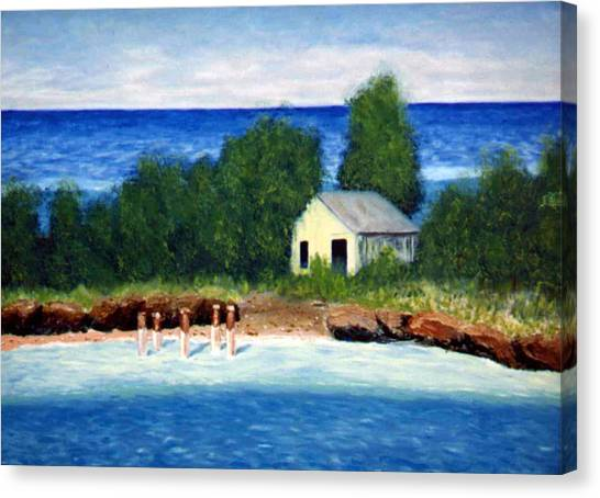 Ocean Shack Canvas Print by Stan Hamilton