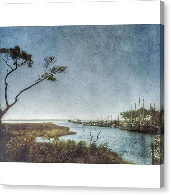 Harbors Canvas Print - Ocean Springs Harbor by Joan McCool