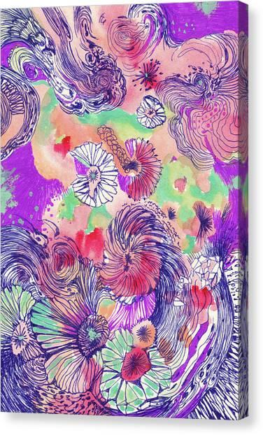 Ocean - #ss18dw010 Canvas Print by Satomi Sugimoto