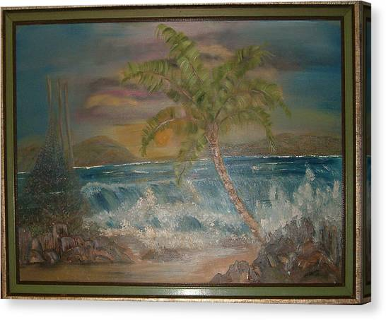 Ocean Storm Canvas Print by Mikki Alhart