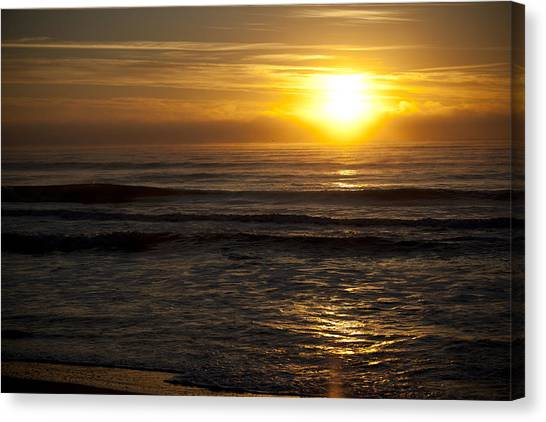 Ocean Sunrise Canvas Print by Christina Durity