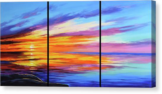 Beach Sunrises Canvas Print - Ocean Sunset by Graham Gercken