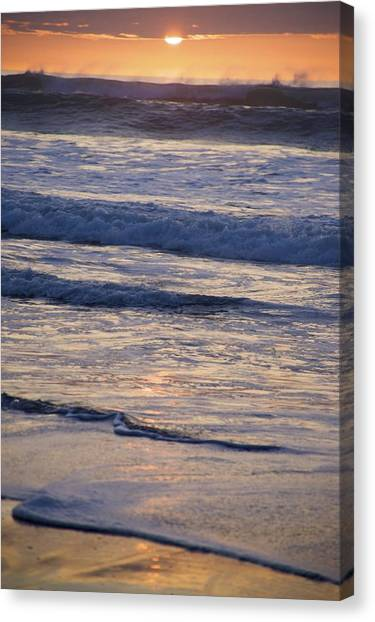 Ocean Sunset Canvas Print by Joyce Sherwin