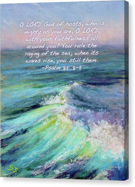 Ocean Symphony With Bible Verse Canvas Print