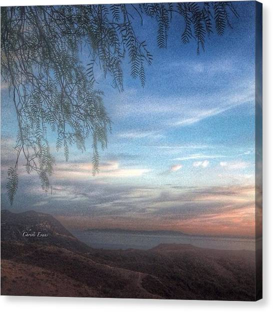 Sunrise Horizon Canvas Print - Ocean View by Christi Evans