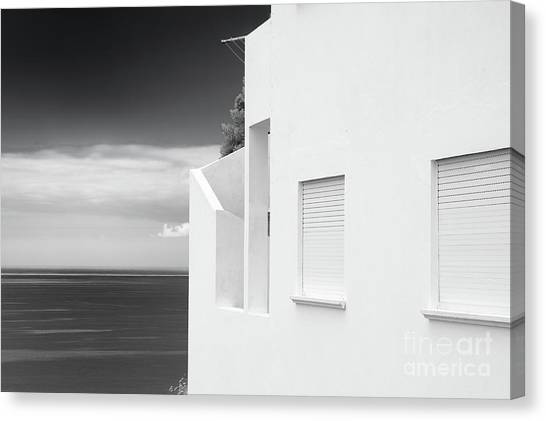 Ocean View White House Canvas Print