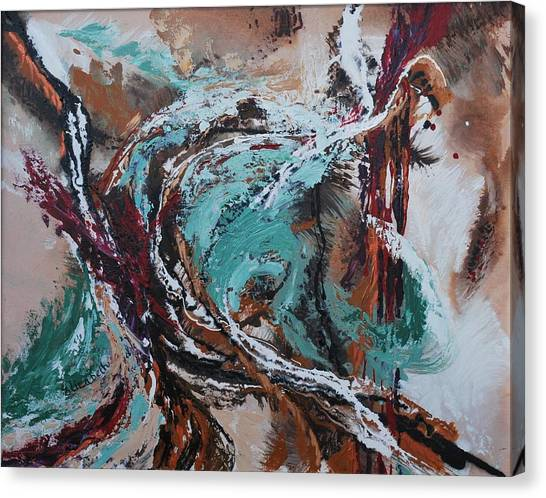 Ocean Wave Abstract Canvas Print by Beth Maddox