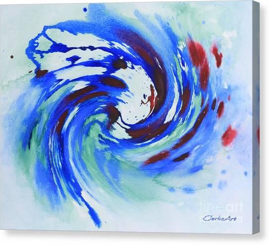 Ocean Wave Watercolor Canvas Print