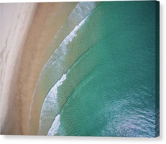 Ocean Waves Upon The Beach Canvas Print